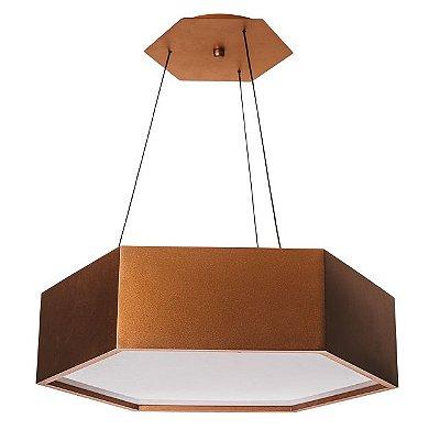 PENDENTE HEXA 16421/35 Usina Design Hexagonal Moderno x Ø35x12X1m x 3-E27