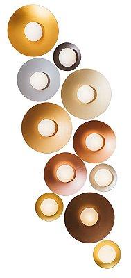 PLAFON IMPULSE Usina Design Redondo LED x Ø30X7cm x 1xPCI LED 5W(110 OU 220V)