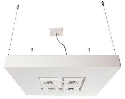 PENDENTE MOOM Usina Design 16621/60 Quadrado Moderno Foco x  60X60cm x 1m x 4 - E27 / 04 - GU10 MR16