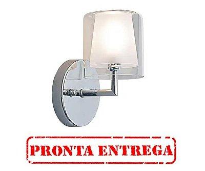 Pronta Entrega / Arandela Maison Metal Cromado Cupula Vidro 20x12cm Bella Iluminação 1 G9 Halopin MO0016 Salas e Hall