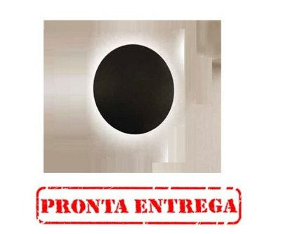 Pronta Entrega / Arandela Pleine Lune Redonda Sobrepor Acrílico 9x26,2cm Newline 1x E27 25W Bivolt IN40022PT Salas e Corredores