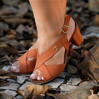 Sandália de Salto em Couro Lovely Sela