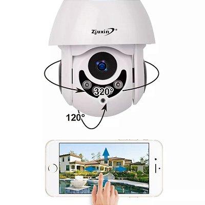 Camera de segurança externa app no smartphone fonte grátis