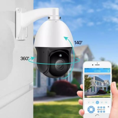 Camera de segurança zomm óptico 30 vezes externa ptz 360 ip