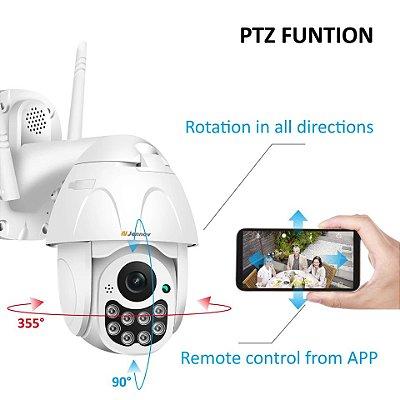 Câmera de segurança 3,6mm zoom digital