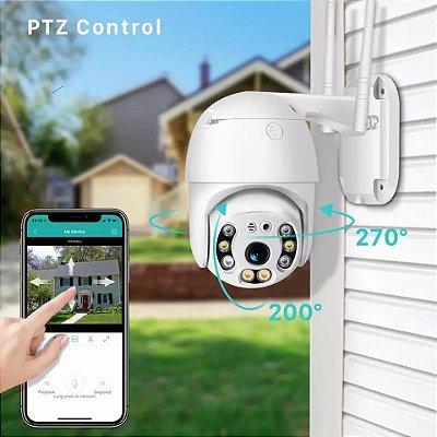Camera de segurança externa app no smartphone
