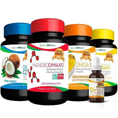 01 Kit Quarteto Mágico Nutriblue + 01 Vitamina D3