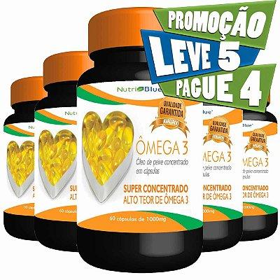 Promoção 5 Frascos - Ômega 3 Super Concentrado Nutriblue