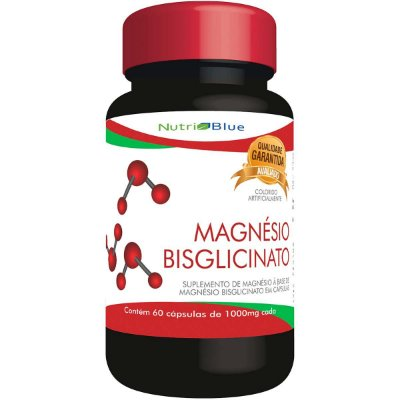 """Magnésio Bisglicinato """"Puro Quelato"""" 1000MG Nutriblue"""
