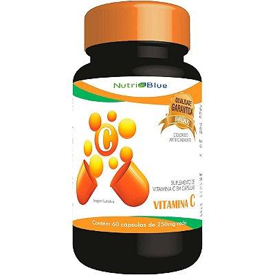 """Suplemento de Vitamina """"C"""" Em Capsulas 250mg Nutriblue"""