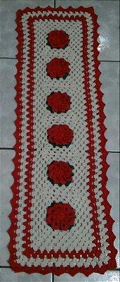 Tapete de Crochê, Passadeira Flores