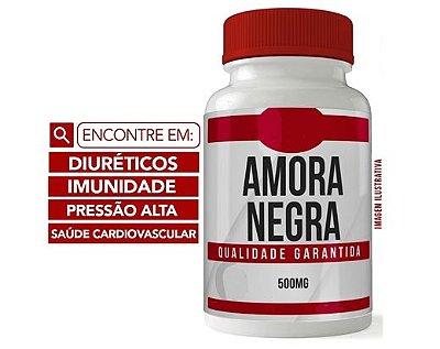 AMORA NEGRA 500MG 60 CÁPSULAS - Diurético e Saúde Vascular E PRESSÃO ALTA