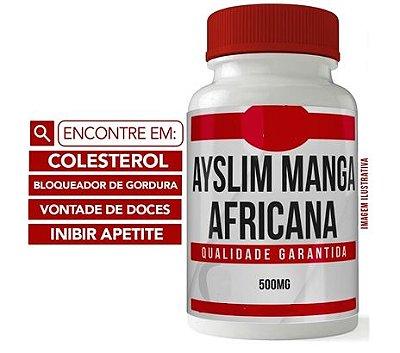 MANGA AFRICANA 500MG 60 CÁPSULAS - Inibidor de Apetite - Bloqueador de Gordura