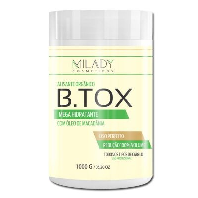 Btox Alisante Organico 1Kg Milady Cosméticos