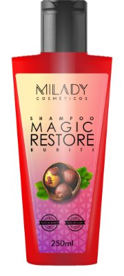 Shampoo Magic Restore Buriti 250ml Milady Cosméticos