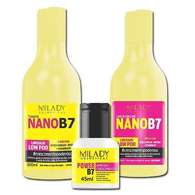 Kit Nano B7 Crescimento Capilar Milady Cosméticos