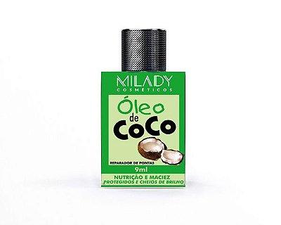 Óleo de Coco 9ml Milady Cosméticos