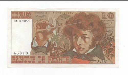 Cédula Da França- 10 Francos - Sob/fe