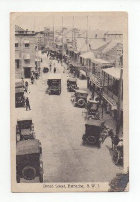 Cartão Postal Antigo de Barbados - Muito raro