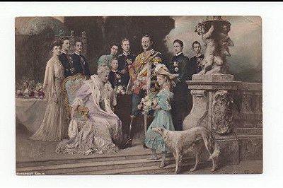 Cartão postal de 1906 Kaiser Wilhelm II Imperador alemão, imperatriz e família real