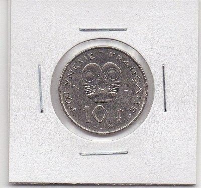Moeda da Polinésia Francesa 10 francos, 1992 - MBC