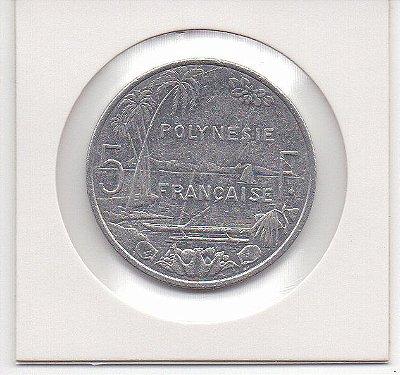 Moeda da Polinésia Francesa 5 francos, 2010 - MBC