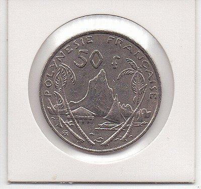 Moeda da Polinésia Francesa 50 francos - 2009 - MBC