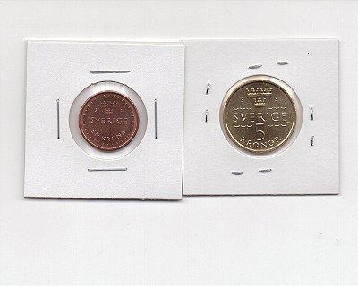 2 moedas da Suécia - 2016