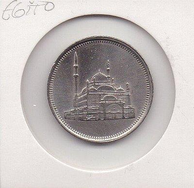 Moeda do Egito - 10 Piastras - 1984