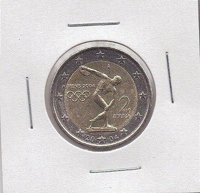Moeda da Grécia - 2004 - 2 EUROS