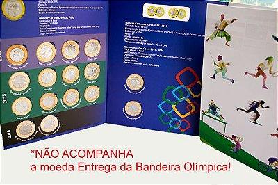 Álbum + Moedas Comemorativas Olimpíadas Rio 2016