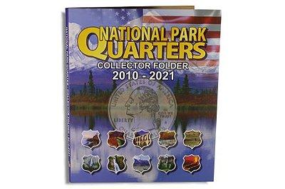Álbum para Moedas de Quarter Dollar EUA - Série Parques