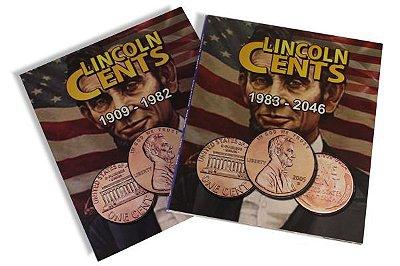 2 Álbuns para Moedas de 1 Centavo de Dólar - Lincoln Cents