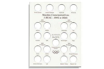 Placa de Madeira para moedas comemorativas de 1 Real