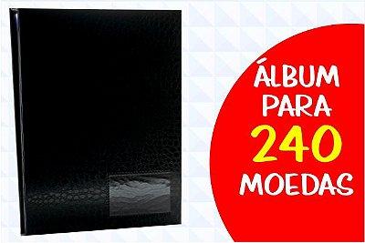 Álbum para Moedas 240 capa croco