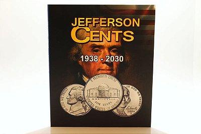 Álbum para Moedas de 5 Cents de Dollar EUA - 1938 - 2030