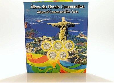 Álbum para moedas de 1 Real - comemorativas das olimpíadas