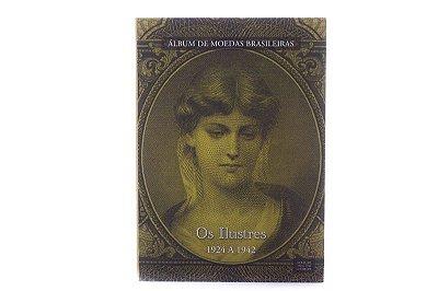 Álbum para moedas - Os Ilustres 1924 a 1942