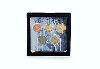 Display plástico com série de moedas do Real - 2018