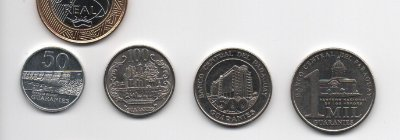Set Moedas do Paraguai