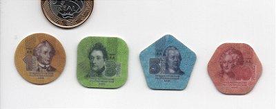 Set Moedas de Plástico da Transnistria