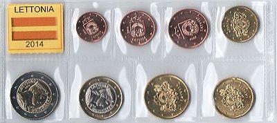 set de Moedas da Letônia - Euro