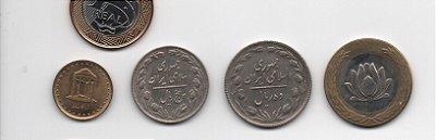 set de moedas do Irã