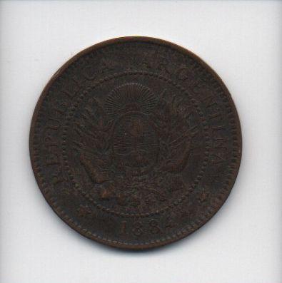 Moeda de 1 Centavo 1884 - Argentina