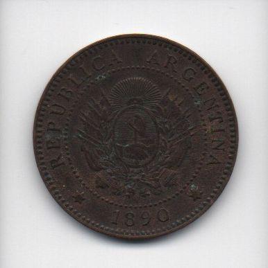Moeda de 1 Centavo 1890 - Argentina
