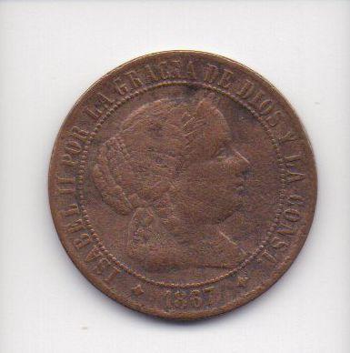 Moeda de 2 e 1/2 centimos de escudo de 1867 - Espanha