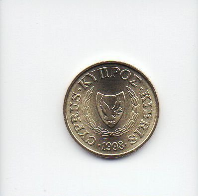Moeda de 1 Cent de 1998 do Chipre
