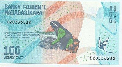 Cédula de Madagascar 100 Ariary