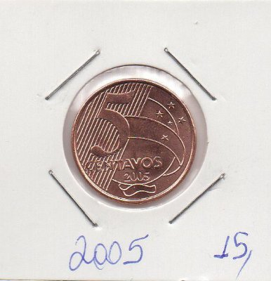 Moeda de 5 centavos de 2005