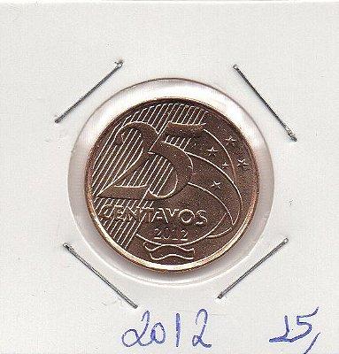 Moeda de 25 centavos de 2012